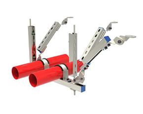 双管单向抗震支架
